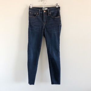 """Madewell 9"""" Skinny Jeans in Larkspur Wash 26 Blue"""